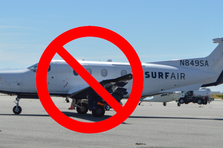 NO Surf Air Planes KSQL